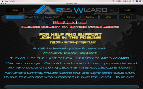 Install Ares Wizard
