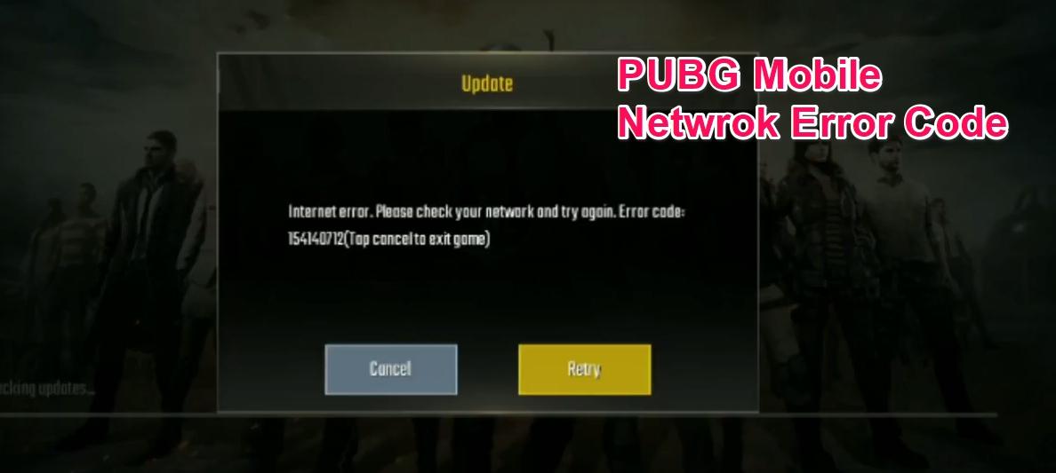 PUBG Mobile Network Error Code Fix
