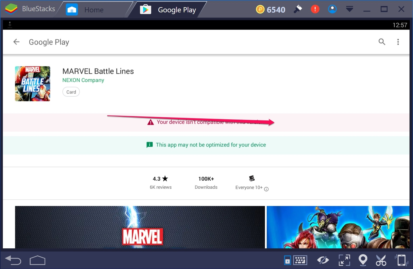 Marvel battle Lines for Windows 10 PC